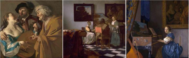 Koppelaarster van Dirck Baburen in Vermeer schilderijen