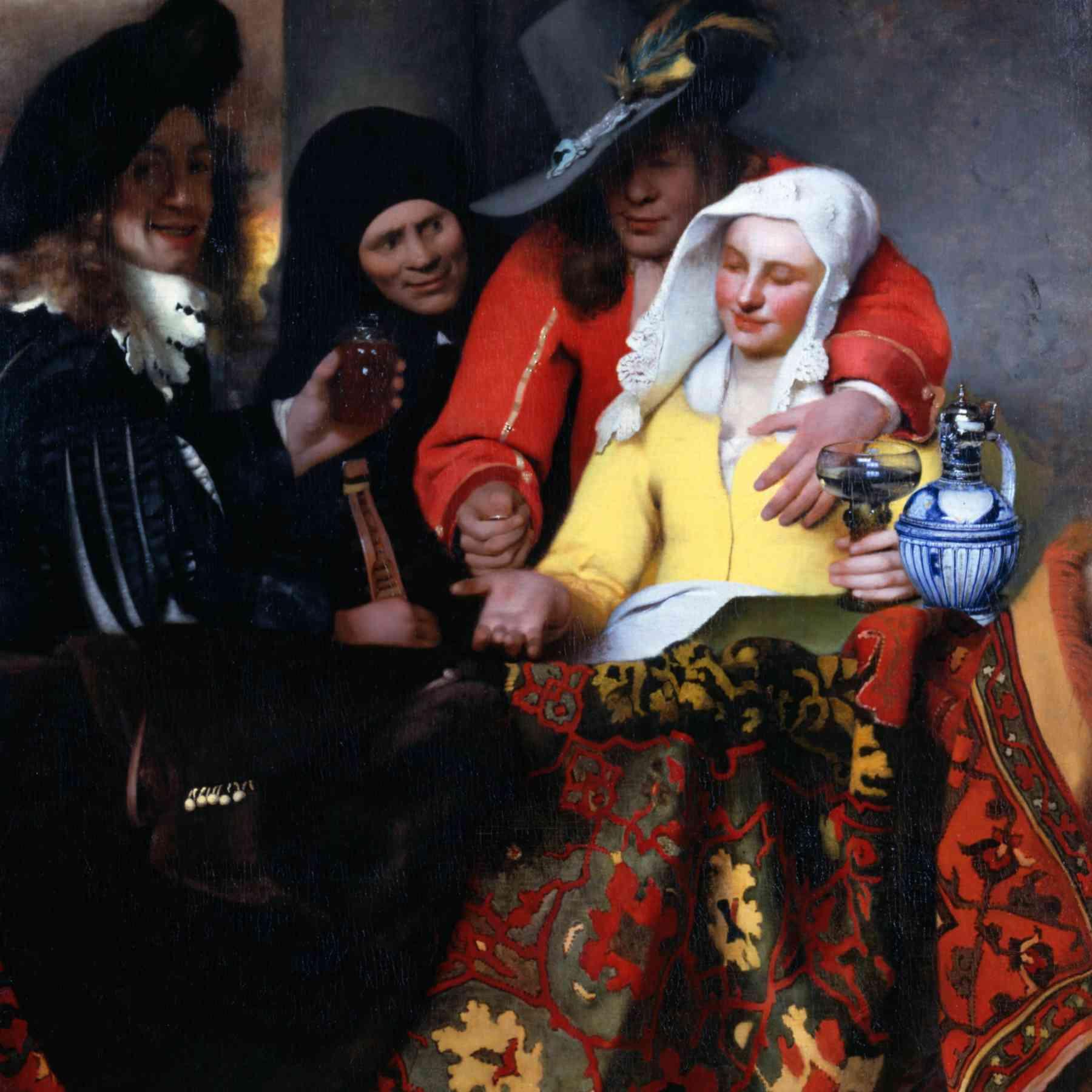 Schilderij De Koppelaarster Johannes Vermeer