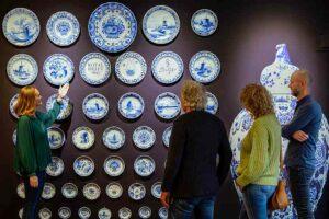 Collectie Delfts blauwe borden Royal Delft