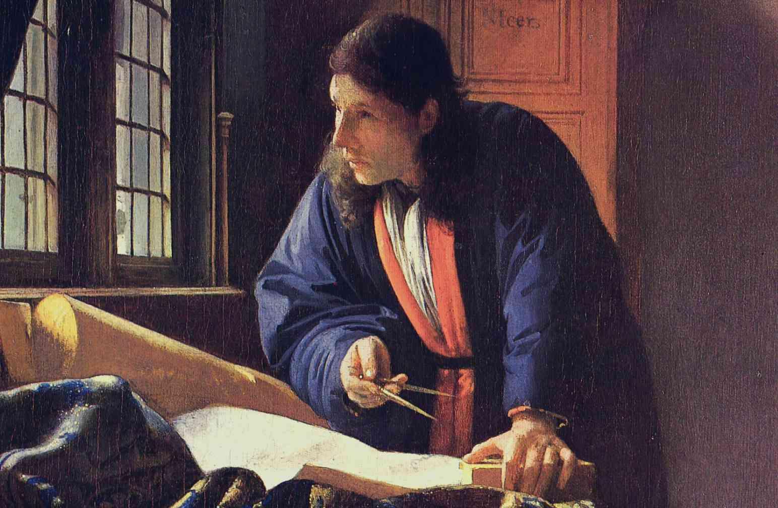 Een wetenschapper en schilder verbonden.